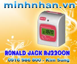 Máy chấm công thẻ giấy RONALD JACK RJ 2200N-chia 3 ca làm việc-lh kim sung