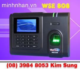 MÁY CHẤM CÔNG VÂN TAY WSE 808 dùng cho cty, nhà xưởng hiệu quả nhất-lh kim sung