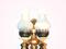 [4] đèn bàn ngủ led, đèn bàn ngủ đá, đèn bàn kĩ thuật, đèn thả phòng ngủ