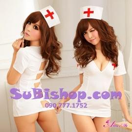 Đầm ngủ y tá hở lưng (không kèm vớ) - DCN107