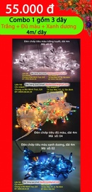 Tp. Hồ Chí Minh: Dây đèn trang trí cây thông Noel giá rẻ 55. 000đ/ 3 dây CL1166647