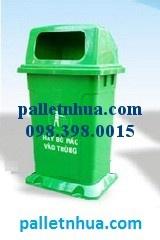 Thùng rác nhựa, thùng rác, xe nâng tay, xenang, pallet