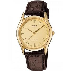 Đồng hồ chính hãng Casio Brown Leather Men's watch #MTP1094Q-9A.