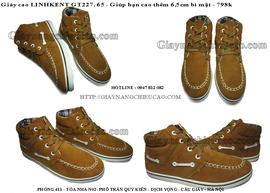 Giày nam chiều cao Linh Kent GT227. 65