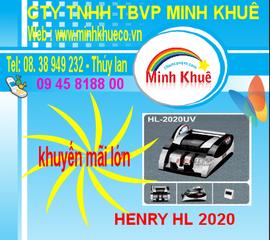 bán Máy đếm tiền henry hl -2020 UV giá ưu đãi lớn tại minh khuê 0938763432