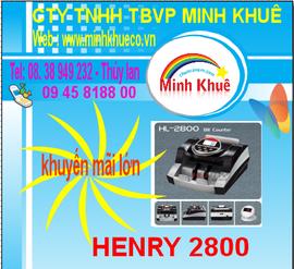 bánMáy đếm tiền henry hl -2800 UV giá rẽ