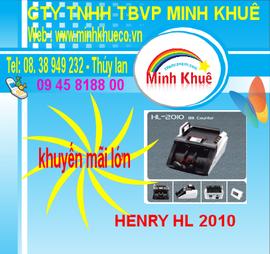 Máy đếm tiền henry hl -2010 UV giá khuyến mãi 01678557161