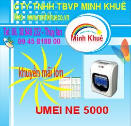minh khuê bán máy chấm công umei ne 5000/ 6000 giảm giá cuối năm tặng 300 thẻ