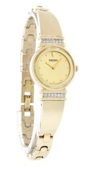 Đồng hồ Nữ SEIKO Crystal Ladies Gold Tone-Hàng chính hãng ship từ Mỹ tại e24h. vn
