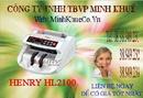 Bà Rịa-Vũng Tàu: bán Máy đếm tiền henry hl -2100 UV giá cực ưu đãi tại minh khuê CL1181321