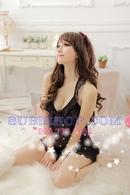 Tp. Hồ Chí Minh: Đầm ngủ sexy voan đen hở lưng - DN492 CL1164499