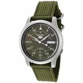 Đồng hồ Seiko Men s SNK805 Seiko 5 Automatic Green Canvas Strap Watch