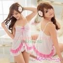 Tp. Hồ Chí Minh: DN540 - Đầm ngủ trắng viền hồng cách điệu CL1164499
