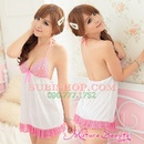Tp. Hồ Chí Minh: DN542 - Đầm ngủ phi trắng viền hồng cột dây CL1164499