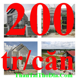 Bán nhà & căn hộ giá từ 200 triệu/ căn, trả góp không lãi suất