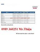 Tp. Hồ Chí Minh: Audi Sài Gòn, Audi TP. HCM, Bảng giá xe 2014 Công ty Đại lý Hãng xe CUS11899