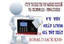 Bình Dương: bán Máy chấm công bằng thẻ cảm ứng ronald jack K -300 giá rẽ tặng 15m cáp 15 th CL1189901P11
