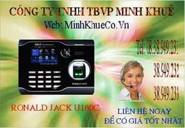 bán Máy chấm công vân tay + thẻ cảm ứng ronald jack U-160C 0945818800