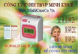máy chấm công thẻ giấy rj 2200A/ N giảm giá