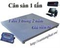 Tp. Hà Nội: cân sàn 1 tấn, cân có mặt sàn cân làm bằng thép chuyên dụng CL1200946P3