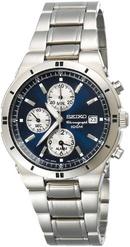Tp. Hồ Chí Minh: Đồng hồ nam chính hãng Seiko Men's SNA695 Alarm Chronograph Silver-Tone Watch CL1194311