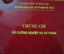 Tp. Hà Nội: Chứng chỉ SƯ PHẠM, sư pham NGHỀ - 0976322302 CL1107938