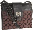 Tp. Hồ Chí Minh: Túi đeo chéo Nine West 9 Jacquard SM Cross Body Black Brown có tại e24h CL1197769