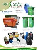 Bình Dương: Thùng rác, xe rác đẩy tay nhựa Composite CL1159655