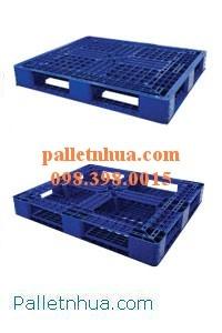 Pallet nhựa kê hàng hóa, kê kho, dùng cho xe nâng tay, xe nâng cao, xe nâng độ