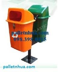chuyên Thùng rác HDPE composit - PE, thùng rác môi trường 55 lít, 660 lít, nhựa