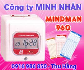 máy chấm công thẻ giấy Mindman M960 - giá rẻ nhất Đồng Nai