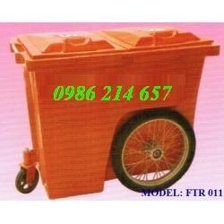thùng rác công cộng 02 bánh xe (240 lít), xe đẩy rác 03 bánh xe (660 lít, 1000 l