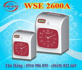 máy chấm công thẻ giấy Wise Eye 2600A - giá rẻ nhất - tặng 500 thẻ