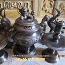 Tp. Hà Nội: Đỉnh đồng giả cổ Giá Đỉnh thờ Đỉnh đồng, Bộ Đỉnh Đồng giả cổ. Đỉnh đồng được sả CL1322446