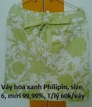 Váy hoa xanh Philipin chỉ 60k