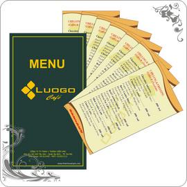 Menu giá rẻ, thực đơn, quyển order nhà hàng, order cafe, túi đũa, bao thia.