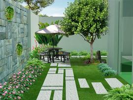 thiết kế sân vườn đẹp công ty