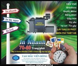 In danh thiếp lấy nhanh sau 05 phút tại Hà Nội - ĐT: 0904242374
