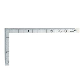 Thước eke vuông cỡ nhỏ Shinwa 12103, 15×7. 5 cm