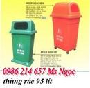 Tp. Hồ Chí Minh: thùng rác 120 lít , thùng rác 2 bánh xe, thùng rác nắp kín, thùng rác màu xanh CL1212752P2