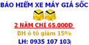 Tp. Hồ Chí Minh: Bảo hiểm xe máy 2 năm = 65. 000đ, Bảo hiểm ô tô giảm 15%. Ship tận nơi CL1205126P1