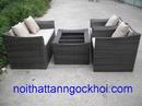Bình Dương: bàn ghế cafe nhựa giả mây cao cấp CL1246657