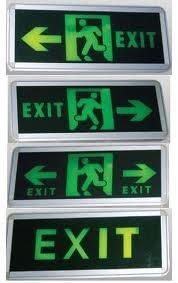 Đèn exit trung quốc 1 mặt 2 mặt đủ loại, đèn chiếu sáng sự cố trung quốc