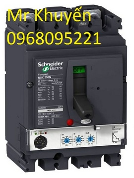 Aptomat schnedier MCCB 3P 125A dòng cắt 25KA bảo hành 12 tháng giảm giá 46% liên
