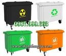 Tp. Hà Nội: Bán Thùng rác nhựa công nghiệp dung tích 660 lít - vận chuyển toàn quốc CL1197664