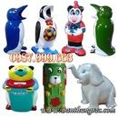Tp. Hà Nội: Sản xuất - Bán Thùng rác hình con thú các loại: cá heo, chim cánh cụt giá rẻ CL1271517