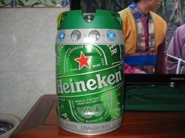 Bia heineken bom 5 lít và heineken chai nhôm quà tặng mừng xuân 2016