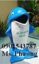 Tp. Hồ Chí Minh: Thùng rác inox đạp chân, thùng rác cá heo, thùng rác inox vuông nắp lật CL1292445