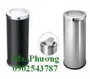 Bình Dương: Thùng rác inox đạp chân, thùng rác inox tròn nắp lật, thùng rác inox tròn CL1292445