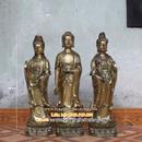 Tp. Hà Nội: Tượng Tam Thánh, Tam thế Phật cao 60cm, ượng Tam thánh, Tam thế Phật, tưuong don CL1309832